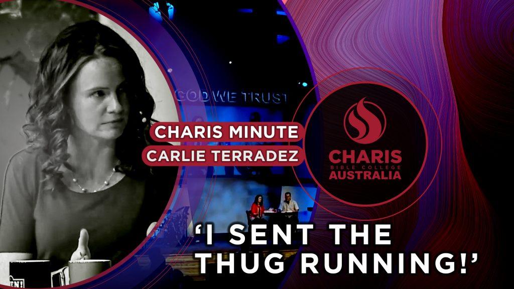 I sent the thug running