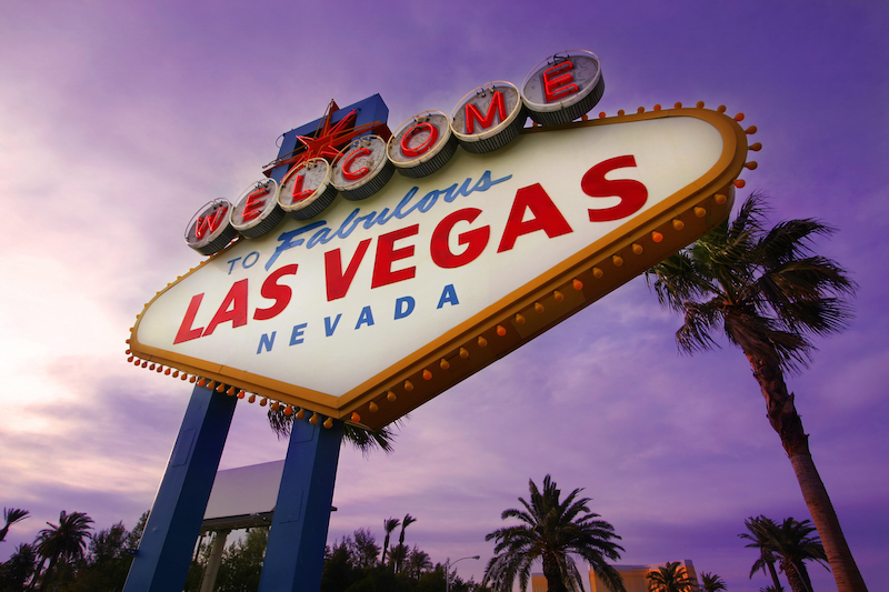 The famous Las Vegas sign, welcoming you to possibly the best destination to snag vacation packages under $500.