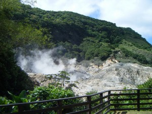 Sulphur springs from St. Lucia's drive-in volcano. Credit: D.G. Brown
