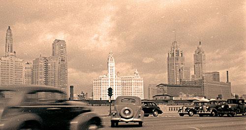 Chicago skyline, 1939. Photo by Charles Dunlap