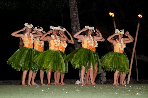 Hawaiian hula dancers. Courtesy of Travis Jacobs.