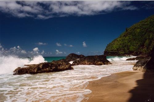 Hanakapiai Beach on the Na Pali Coast in Kauai, Hawaii. Courtesy of Jeff Kubina.