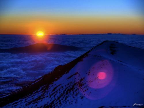 Sunset from Mauna Kea. Courtesy of Paul Bica.