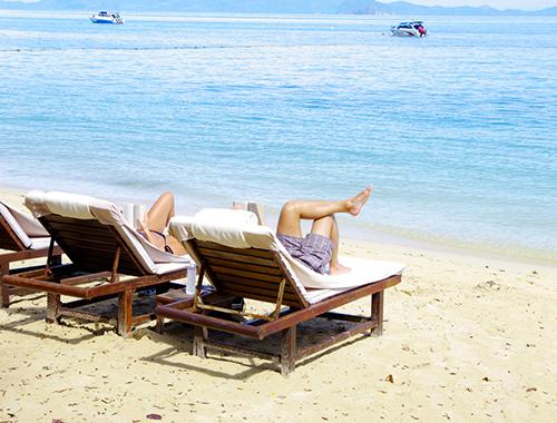warm beach chair