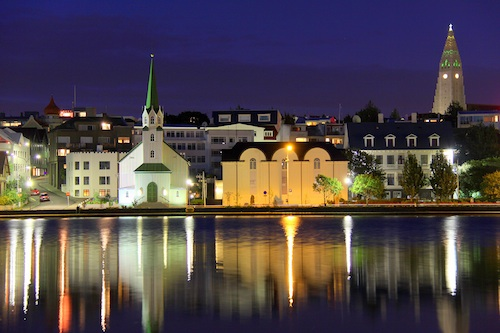 Downtown Reykjavik, Iceland. Courtesy of O Palsson.
