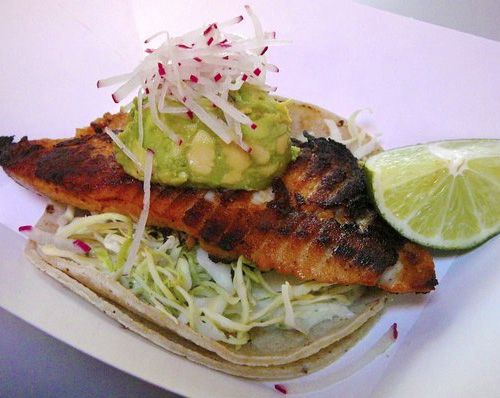 Grilled fish and guac taco. Photo courtesy of Yelp