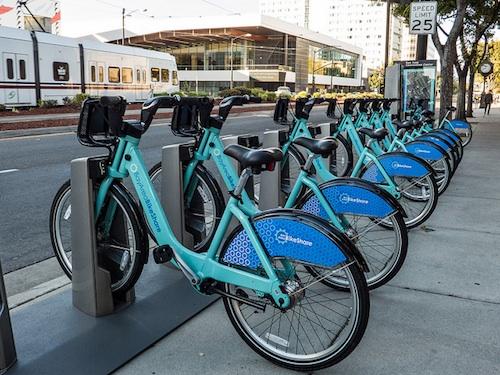 Bike share in San Jose, California. Courtesy of Don DeBold.