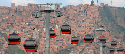 It's not a ski resort. This is one way to get around in Bolivia. Photo by TheGamerJediPro/Wikipedia.
