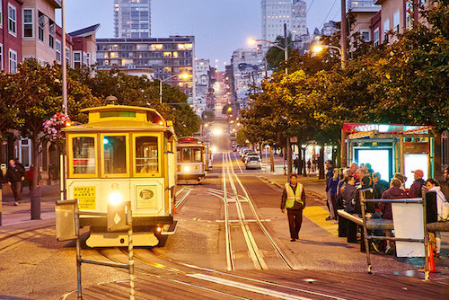 Cable cars: The real San Francisco treat. Photo by Kārlis Dambrāns/Flickr Creative Commons.