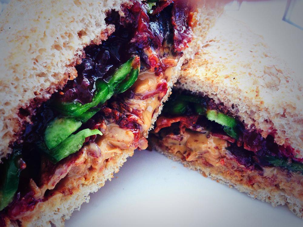 Full bellied pig sandwich