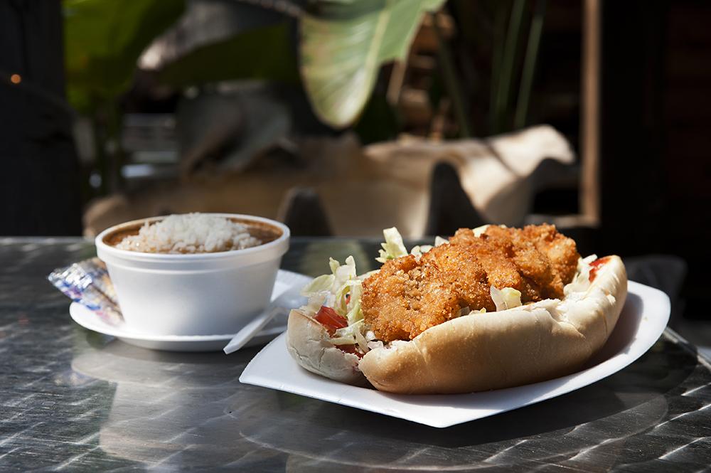 Shrimp sandwich; Photo credit: Galveston CVB