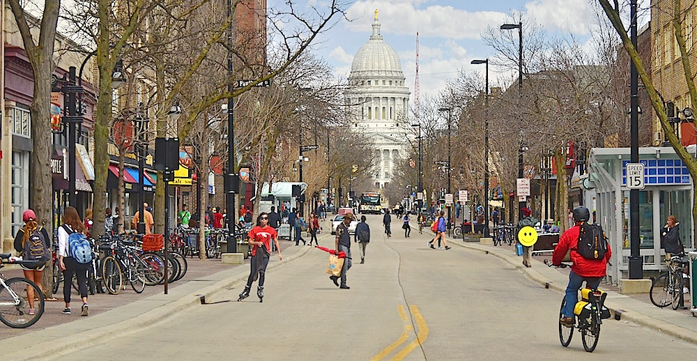 A spring day on State Street. Courtesy of Richard Hurd.