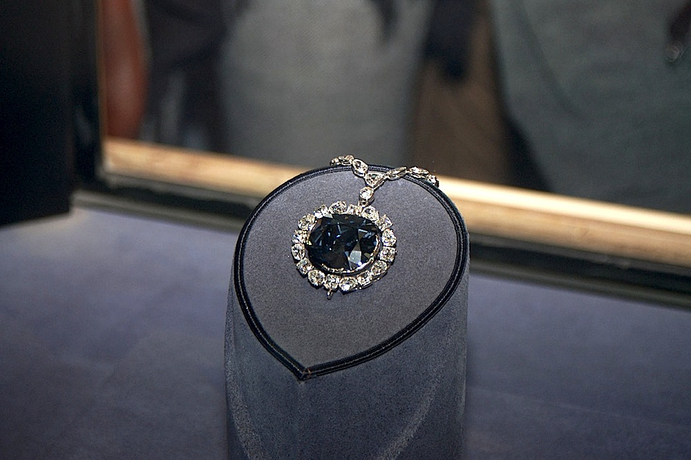 The Hope Diamond is on display at the National Museum of Natural History in Washington D.C., one of the world's best free museums.