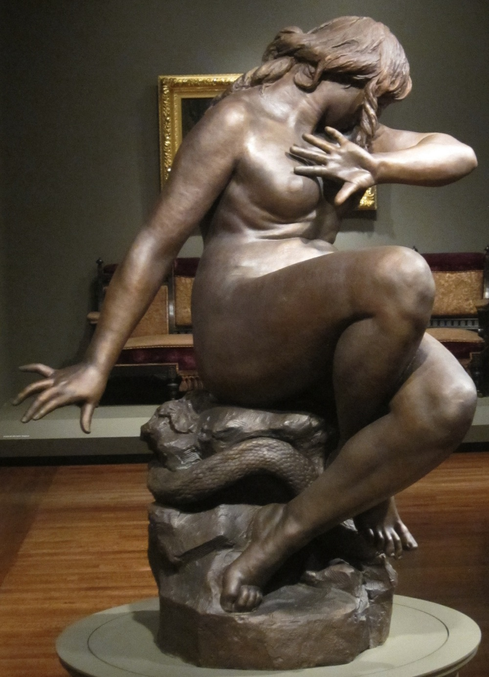 'Eve Hearing the Voice' by Moses Jacob Ezekiel, at Cincinnati Art Museum. Courtesy of Wikimedia Commons.