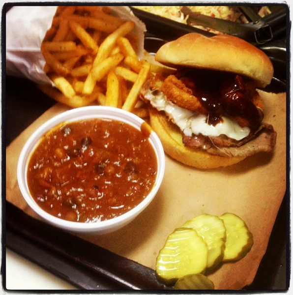Z-man sandwich; Photo courtesy of Joe's Kansas City BBQ