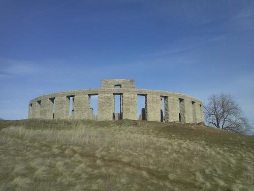 Stonehenge replica. Credit Wikipedia.