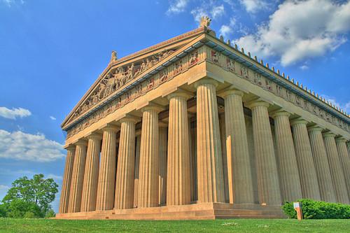 Parthenon replica in Nashville. Credit Will Powell/Flickr.