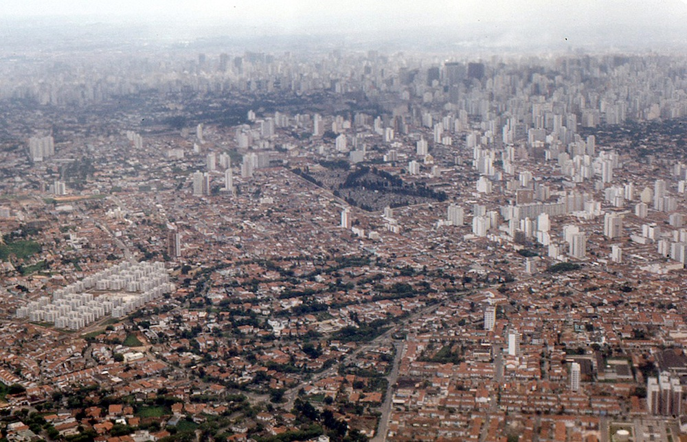 A view of São Paulo from the air. Courtesy of Roger W.
