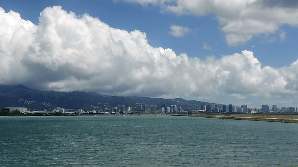 The view from Honolulu International Airport. Courtesy of Robert Linsdell.