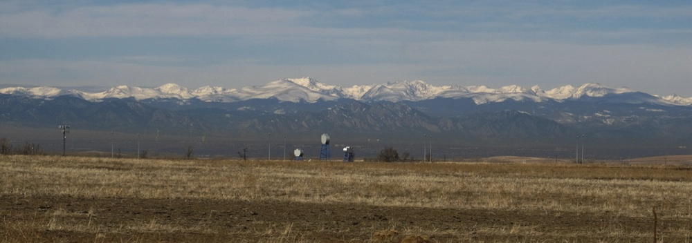 View of the Front Range from Denver International Airport. Courtesy of Ken Lund.