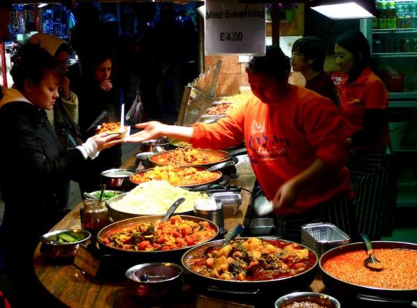 London- Food vendors at Camden Market