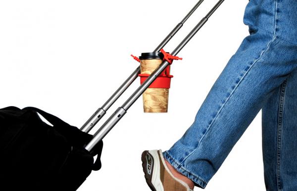 tugo drink holder on suitcase