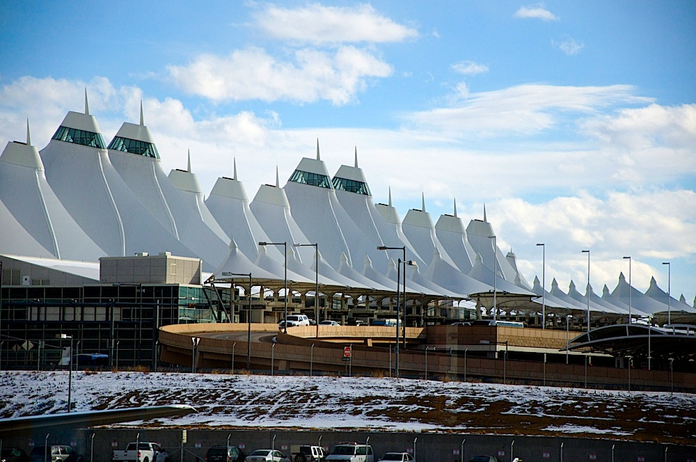 This distinctive architecture has one awards for Denver International Airport. Courtesy of Timothy Vollmer.