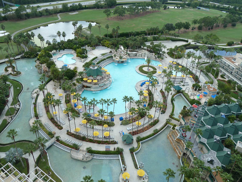 View from Room 22466, Marriott World Center, Orlando, Florida