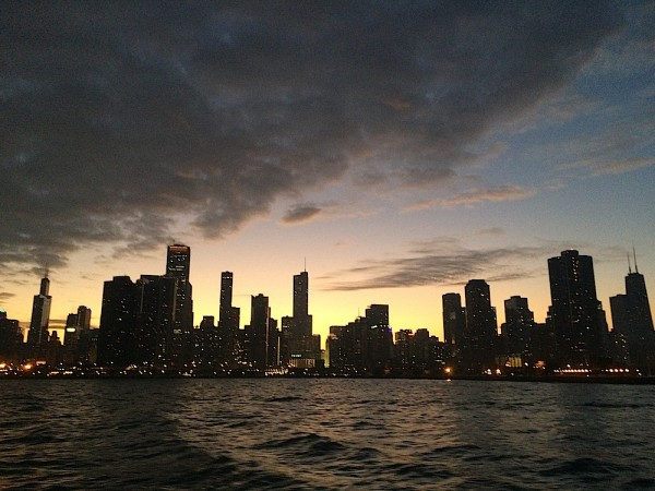 View of Chicago from the water taxi. Courtesy of Ally Marotti.