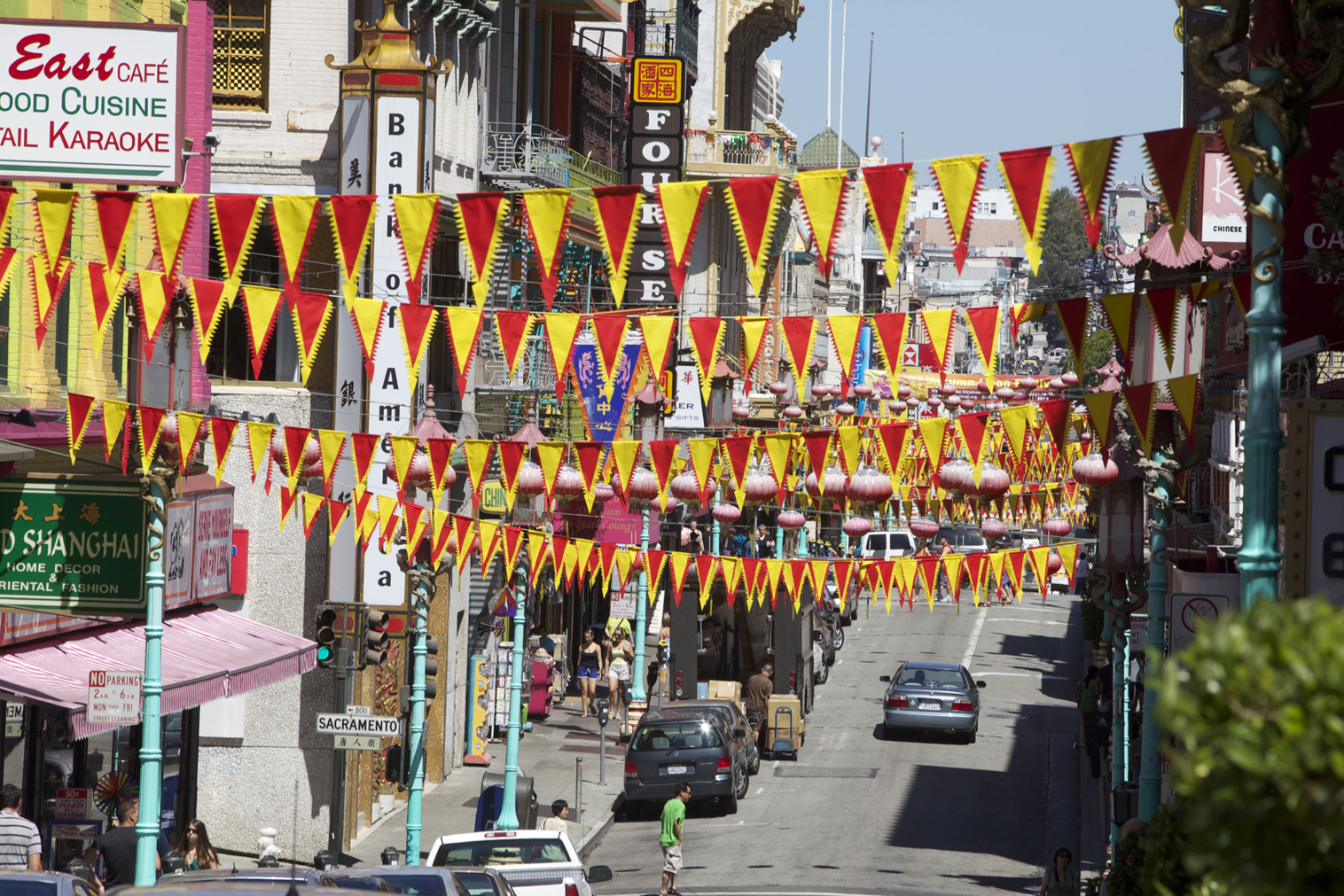 """Go """"east,"""" young man, to Chinatown. Credit San Francisco Travel Association/Scott Chernis."""