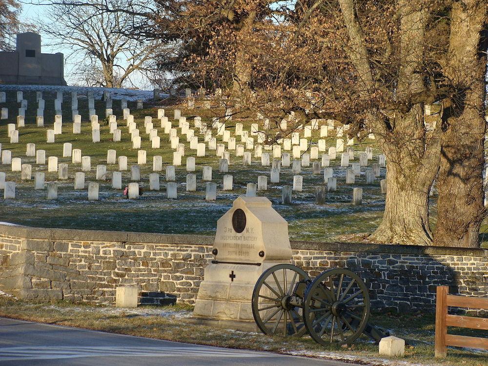 Gettysburg National Cemetery. Credit Sallicio/Wikipedia.