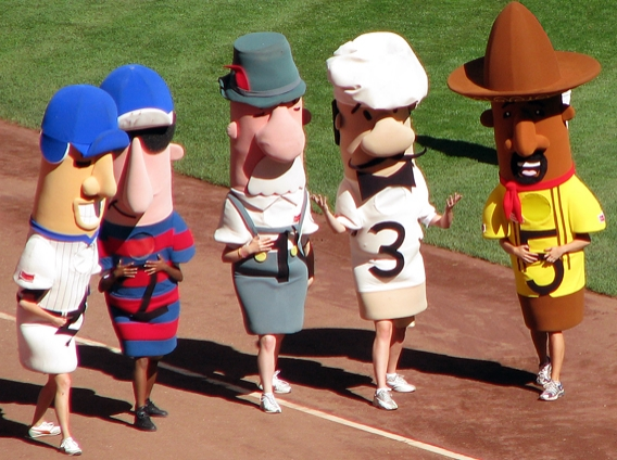 Racing Sausages in Miller Park
