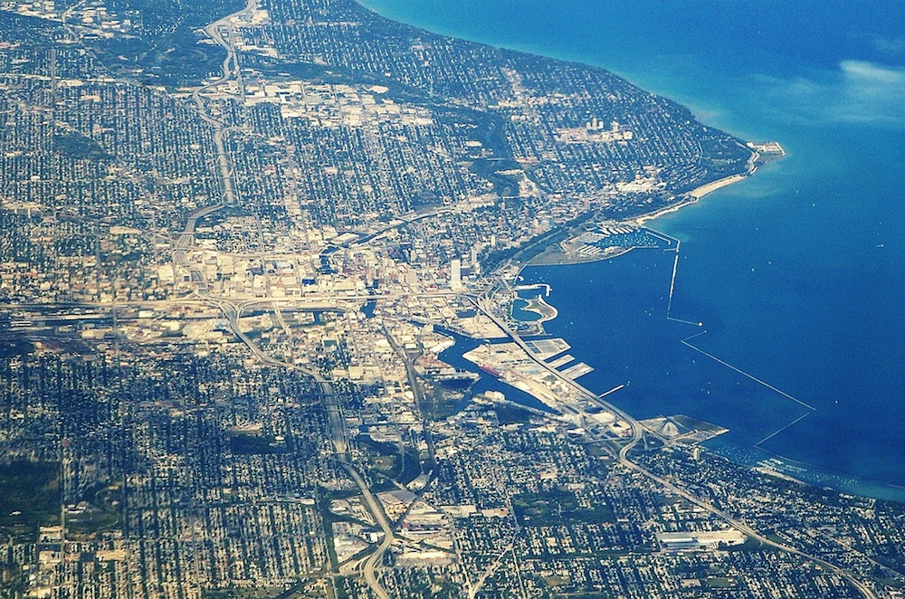 Milwaukee from the air