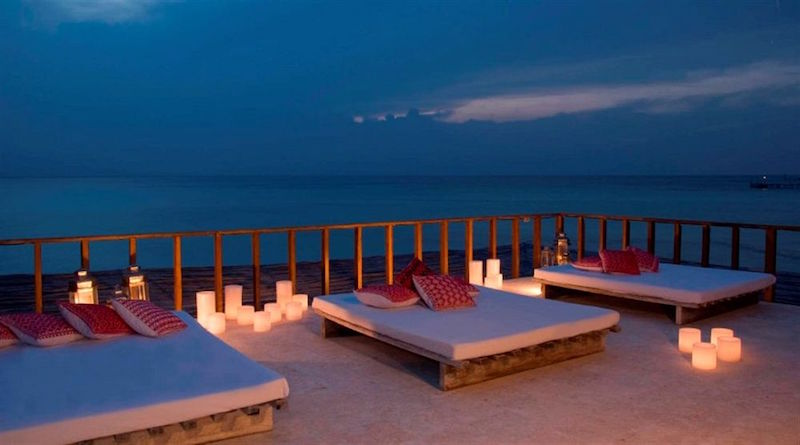 Cool Cancun hotels you can actually afford - Beach Hotel Na Balam's outdoor deck