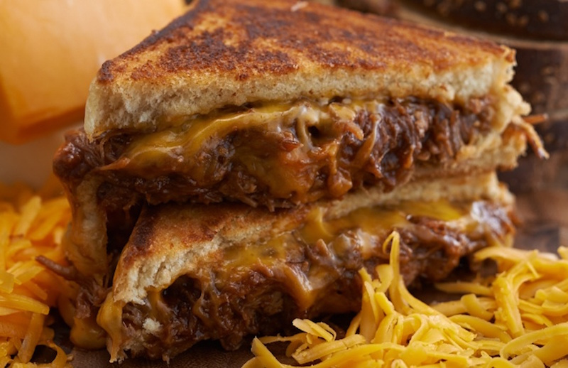 The BBQ Pulled Pork Grilled Cheese