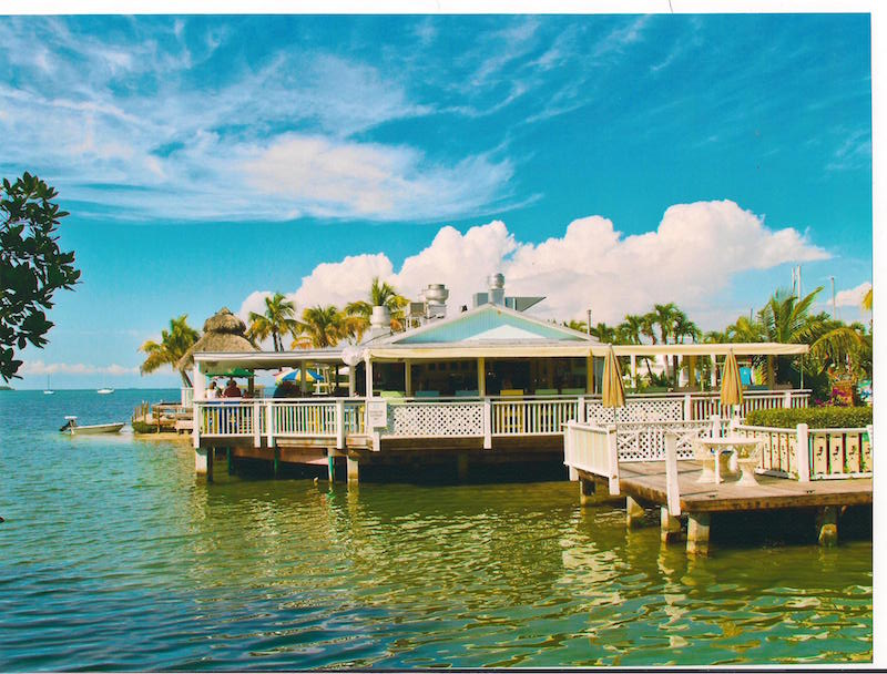 Overwater patios at Lorelei Cabana Bar, among the best beach bars in the states.