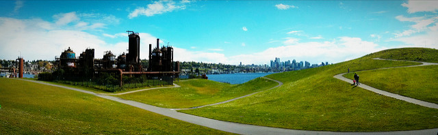 The skyline view at Gas Works Park in Seattle