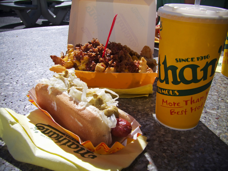 Nathan's Famous, which makes some of the best hot dogs in the country