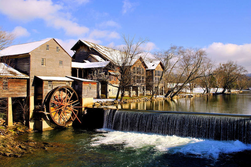 An old mill in Pigeon Forge, TN