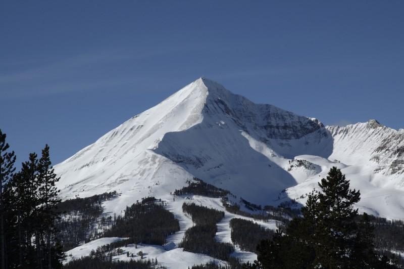 Lone Peak in Big Sky, Montana