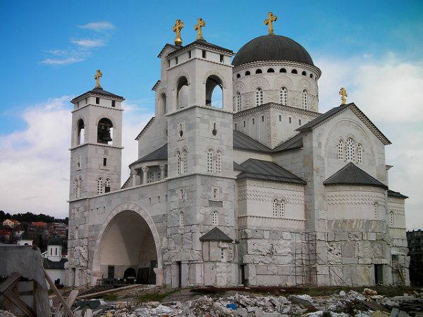 Visit Montenegro for the cheap food and beaches; stay for the gorgeous Podgorica Cathedral, pictured here.