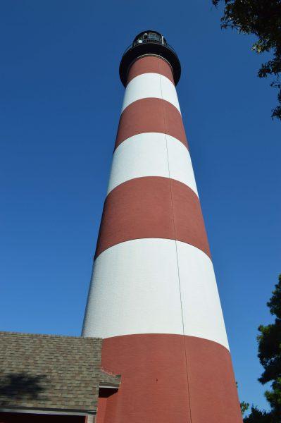 At the base of the Assateague lighthouse. Photo credit: Alexandra Olsen