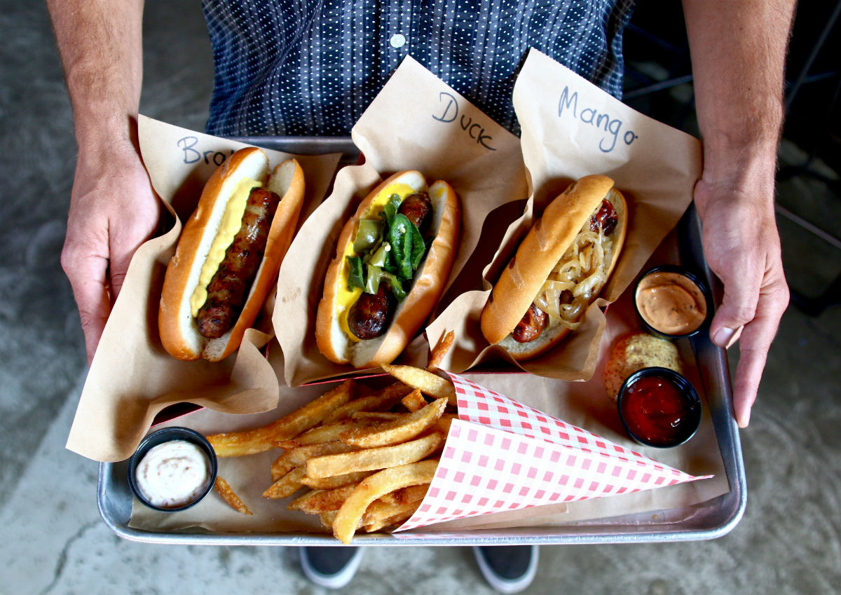 Wurstkuche, hot dogs, sausages, cheap eats, DTLA, Los Angeles
