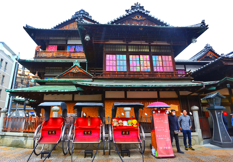 Workers at Dogo Onsen. It is one of the oldest Japanese Ryokan in the Japan.