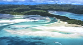 Whitehaven Beach, Whitsunday Island, Whitsunday Islands, Australia, East Coast, Queensland, Non-Urban, Coastline, Scenics, Scenics