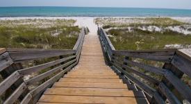 """Stairs leading to the beach near Panama City Beach, Florida."""