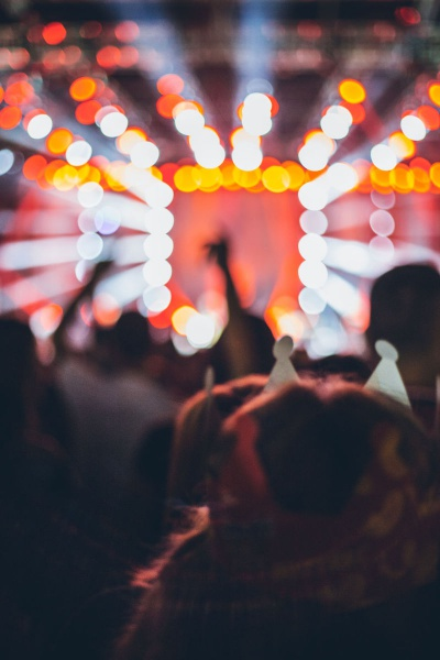 Crowd And Lights At A Music Concert