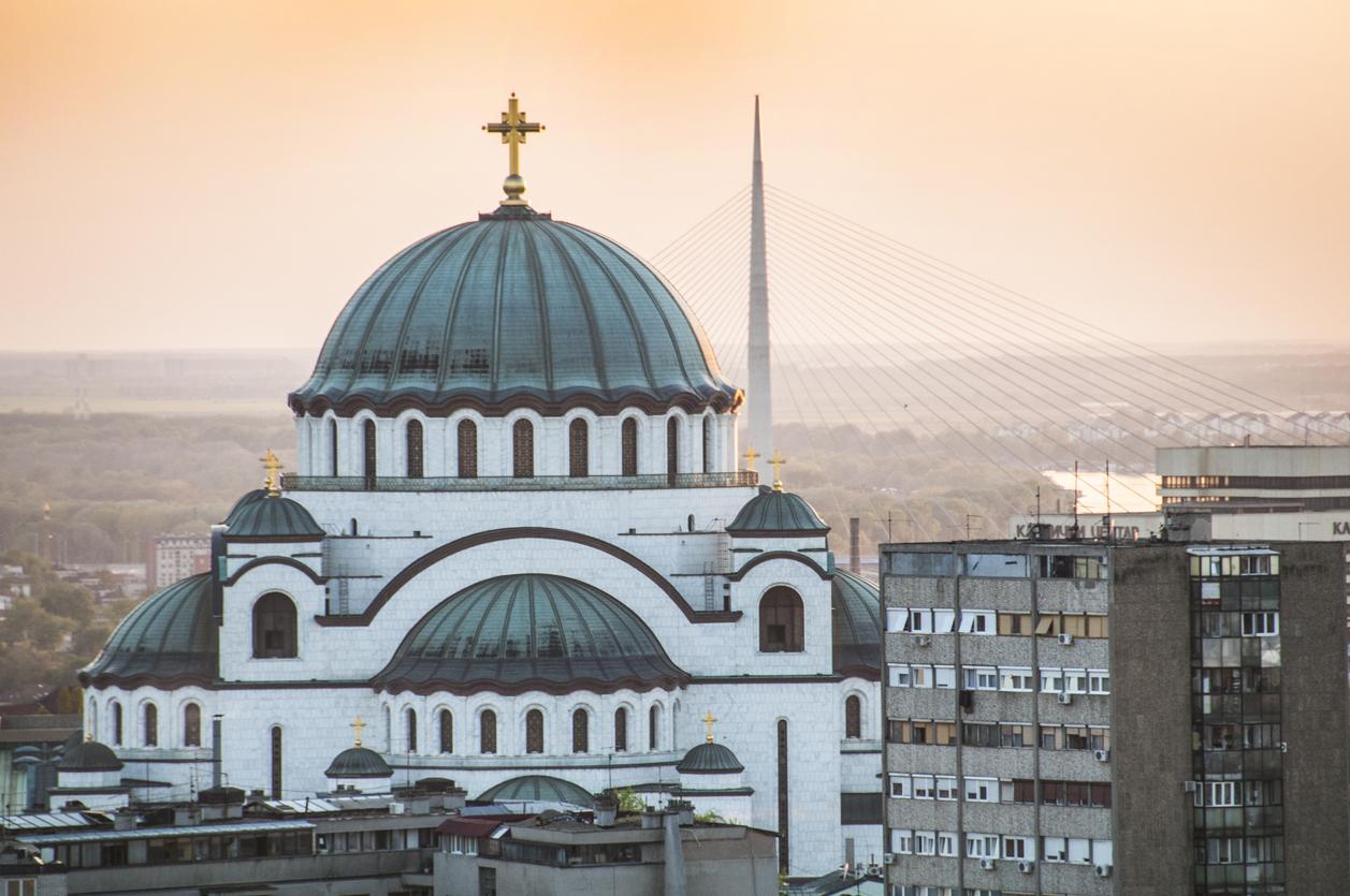 St Sava`s temple in Belgrade