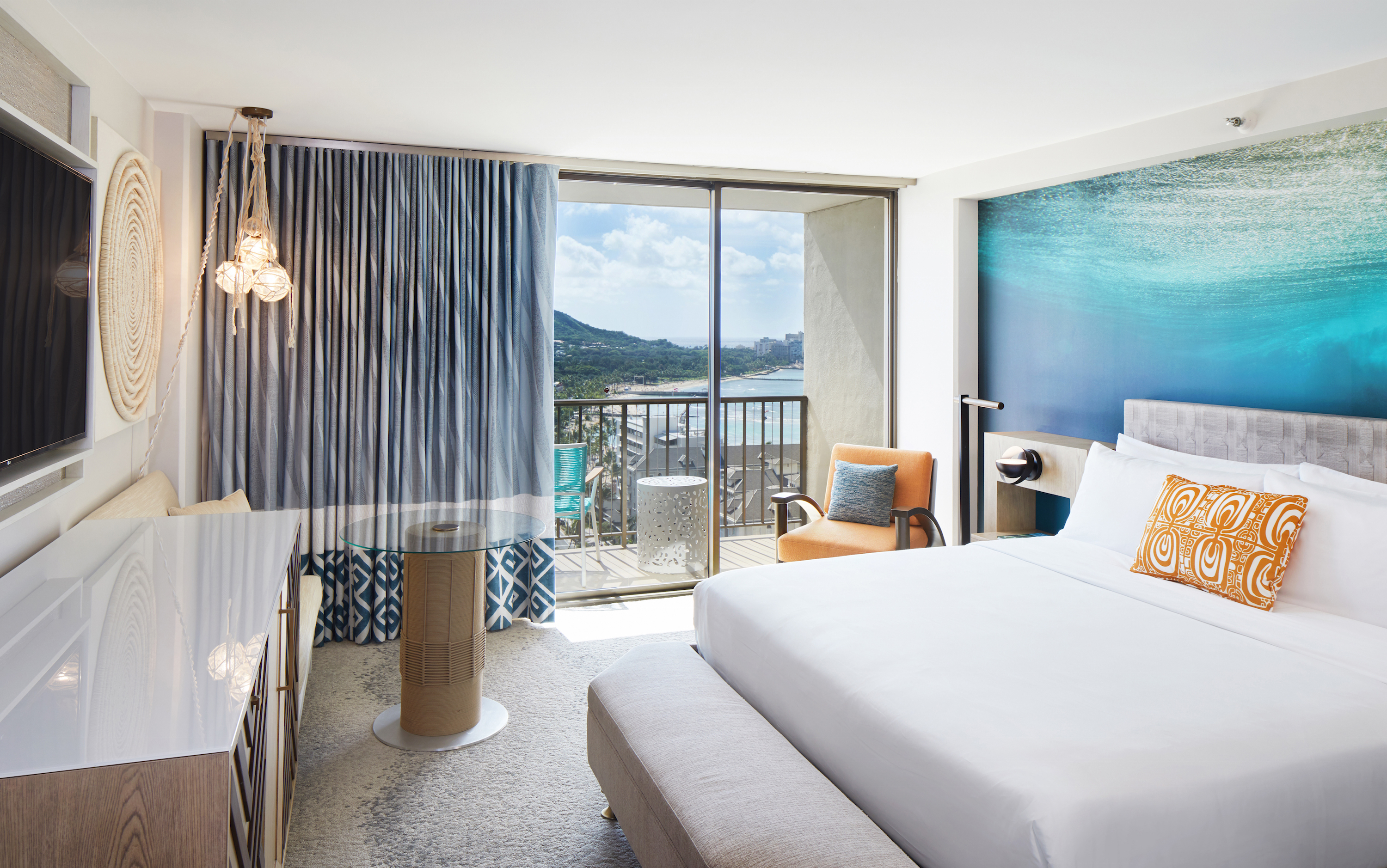 A room at the newly renovated Waikiki Beachcomber by Outrigger