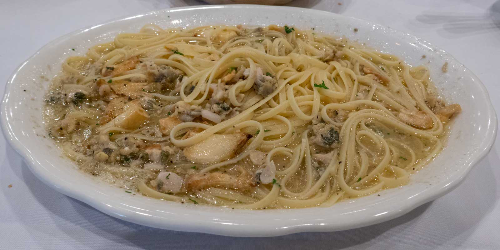linguine with white clam sauce from Don Peppe South Ozone Park Queens